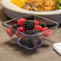 Dinex DXSB907 9 oz. Clear Square SAN Plastic Bowl - 48/Case