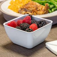 Dinex DXSB1202 12 oz. White Square SAN Plastic Bowl - 48/Case
