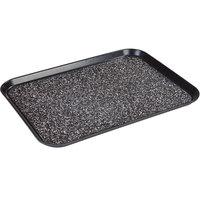 Dinex DXSMC1520NSM03 15 inch x 20 inch Glasteel Black Marble Non-Skid Fiberglass Tray - 12/Case
