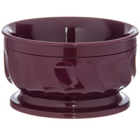 Dinex DX330061 Turnbury 9 oz. Cranberry Insulated Bowl with Pedestal Base - 48/Case