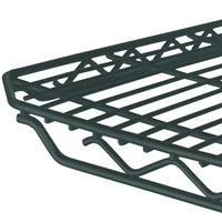 Metro 1436Q-DSG qwikSLOT Smoked Glass Wire Shelf - 14 inch x 36 inch