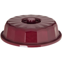 Dinex DX9407B61 Tropez Cranberry High-Heat Convection Dome for 7 inch Round Plate - 12/Case