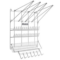 Ateco 2999 Stainless Steel Pastry Bag and Tip Drying Rack - 23 inch x 19 1/2 inch