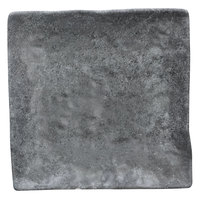 Elite Global Solutions D6118SQ-CO Basalt 6 inch Coal Square Melamine Plate - 6/Case