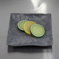Elite Global Solutions D6118SQ-CO Basalt 6 inch Coal Square Melamine Plate - 6/Case