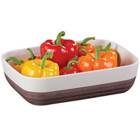 Cal-Mil 3471-12 9 inch x 12 inch Two-Tone Melamine Stoneware Platter