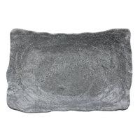 Elite Global Solutions DB69RC-CO Basalt 16 oz. Coal Rectangular Melamine Bowl - 6/Case