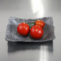 Elite Global Solutions DB69RC-CO Basalt 16 oz. Coal Rectangular Melamine Bowl - 6/Case