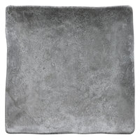 Elite Global Solutions D10134SQ-CO Basalt 10 inch Coal Square Melamine Plate - 6/Case