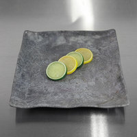 Elite Global Solutions D10134SQ-CO Basalt 10 inch Coal Square Melamine Plate - 6/Case