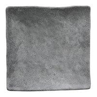 Elite Global Solutions D812SQ-CO Basalt 8 inch Coal Square Melamine Plate - 6/Case