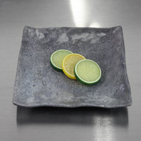 Elite Global Solutions D812SQ-CO Basalt 8 inch Coal Square Melamine Plate - 6/Case