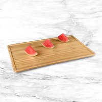 Elite Global Solutions M2012RCFP-BB Fo Bwa 20 inch x 12 inch Faux Bamboo Melamine Serving Board