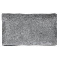 Elite Global Solutions D71238RC-CO Basalt 12 inch x 7 inch Coal Rectangular Melamine Plate - 6/Case