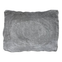 Elite Global Solutions DB912RC-CO Basalt 42 oz. Coal Rectangular Melamine Bowl - 6/Case