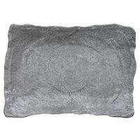 Elite Global Solutions DB1014RC-CO Basalt 65 oz. Coal Rectangular Melamine Bowl - 6/Case