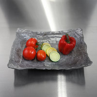 Elite Global Solutions DB1014RC-CO Basalt 65 oz. Coal Rectangular Melamine Bowl - 6/Case