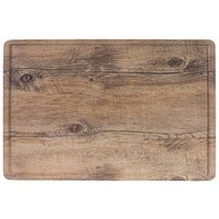 Elite Global Solutions M2012RCFP-DW Fo Bwa 20 inch x 12 inch Faux Driftwood Melamine Serving Board