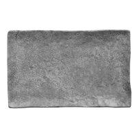 Elite Global Solutions D61014RC-CO Basalt 10 1/4 inch x 6 1/2 inch Coal Rectangular Melamine Plate   - 6/Case