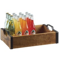 Cal-Mil 3924-99 Madera Rustic Pine Serving Tray - 17 1/4 inch x 12 1/4 inch x 5 inch