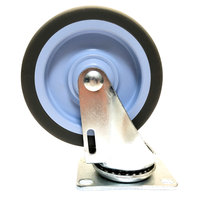 Carlisle IT410CS00 5 inch Swivel Plate Caster for IT410, ADD4, ADD6, ADS4, and ADS8