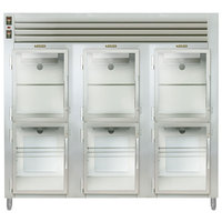 Traulsen AHF332WP-HHG Glass Half Door Three Section Reach In Pass-Through Heated Holding Cabinet - Specification Line