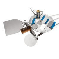 GI Metal BASIC2 Amica Light Duty 10 Piece Pizza Kit with 13 inch and 8 inch Peels
