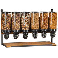 Cal-Mil 3741 Madera Floorstanding Dry Food Merchandiser 6 Cylinder Attachment - 37 inch x 7 inch x 18 1/4 inch