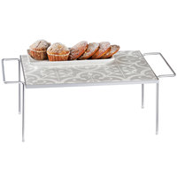 Cal-Mil 436-9-86 Granada Serving Tray with Removable Melamine Tile - 24 inch x 13 3/4 inch x 9 1/8 inch