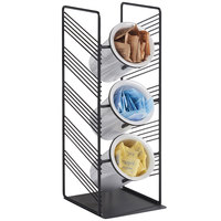 Cal-Mil 4105-13 Portland Black 3 Cylinder Flatware / Condiment Stand - 6 3/4 inch x 7 3/4 inch x 19 inch