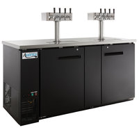 Avantco UDD-3-HC (2) Four Tap Kegerator Beer Dispenser - Black, (3) 1/2 Keg Capacity