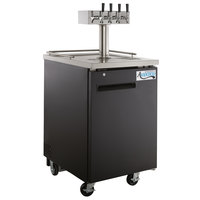 Avantco UDD-1-HC Four Tap Kegerator Beer Dispenser - Black, (1) 1/2 Keg Capacity