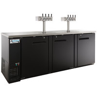 Avantco UDD-4-HC (2) Four Tap Kegerator Beer Dispenser - Black, (4) 1/2 Keg Capacity