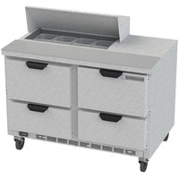 Beverage Air SPED48HC-08-4 48 inch 4 Drawer Refrigerated Sandwich Prep Table