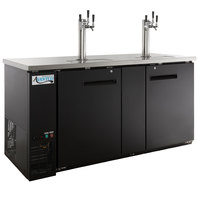 Avantco UDD-3-HC (2) Triple Tap Kegerator Beer Dispenser - Black, (3) 1/2 Keg Capacity