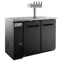 Avantco UDD-48-HC Four Tap Kegerator Beer Dispenser - Black, (2) 1/2 Keg Capacity