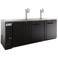 Avantco UDD-4-HC (2) Triple Tap Kegerator Beer Dispenser - Black, (4) 1/2 Keg Capacity