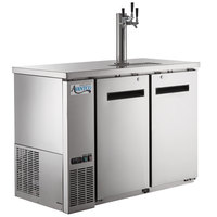 Avantco UDD-48-HC-S Triple Tap Shallow Depth Kegerator Beer Dispenser - Stainless Steel, (2) 1/2 Keg Capacity