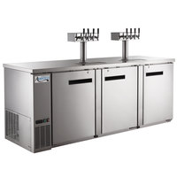 Avantco UDD-4-HC-S (2) Four Tap Kegerator Beer Dispenser - Stainless Steel, (4) 1/2 Keg Capacity