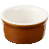 Greenware by Tuxton B3X-035 3.5 oz. Autumn / Ivory (American White) Smooth China Ramekin - 48/Case