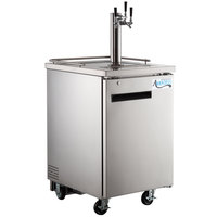 Avantco UDD-1-HC-S Triple Tap Kegerator Beer Dispenser - Stainless Steel, (1) 1/2 Keg Capacity