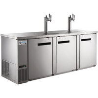 Avantco UDD-4-HC-S (2) Triple Tap Kegerator Beer Dispenser - Stainless Steel, (4) 1/2 Keg Capacity