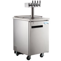 Avantco UDD-1-HC-S Four Tap Kegerator Beer Dispenser - Stainless Steel, (1) 1/2 Keg Capacity