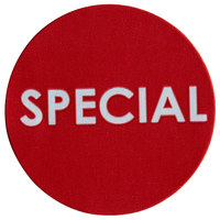 Noble Products 1 inch Red Round Special Permanent Label - 1000/Roll