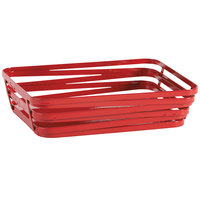 GET WB-982-R Cyclone 9 inch x 7 inch Rectangular Red Wire Basket