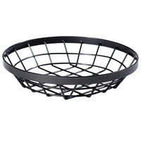 GET WB-1050-MG Vector 10 1/2 inch Round Metal Gray Wire Basket