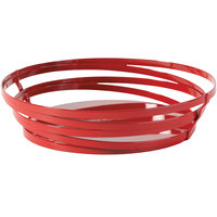 GET WB-972-R Cyclone 9 inch x 7 inch Oval Red Wire Basket