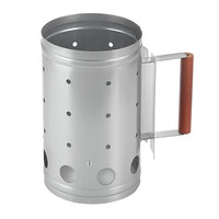 5 lb. Briquette Charcoal Chimney Starter - 10 1/2 inch x 6 1/2 inch