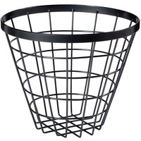GET WB-886-MG Vector 8 inch Round Metal Gray Wire Basket