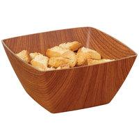 GET B-SQ-6-M Arbor 1 Qt. Square Faux Wood Polystyrene Bowl